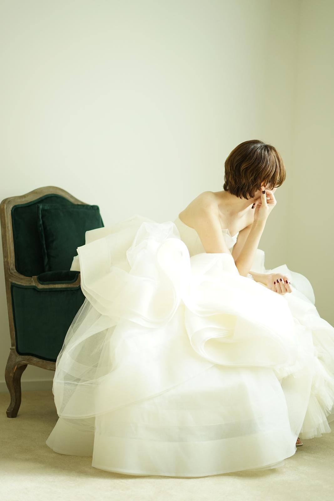 VERA WANG(ヴェラウォン)Katherine(キャサリン)の委託販売、東京広尾ショールーム試着